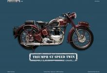Triumph ST Speed Twin Motorrad Blechschild