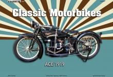 Ace 1919 Classic Motorrad Blechschild