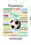 Fussball - vereint! Mannschaft team sport blechschild