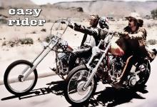 Easy rider motorrad und pferd blechschild