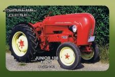 Porsche Diesel Junior 108 14PS 1961 tracktor trekker blechschild