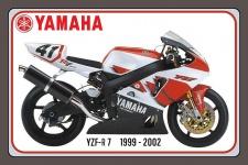 Yamaha YZF R7 1999-2002 105-160PS motorrad, motor bike, motorcycle blechschild