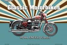 Royal Enfield Classic Motorrad Blechschild