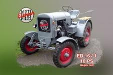 Eicher ED16/1 16PS 1949 tracktor trekker blechschild