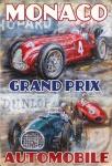 Formel 1 Grand Prix Monaco Autorennen blechschild