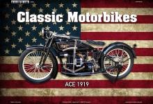 Ace 1919 USA Classic Motorrad Blechschild