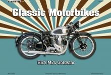 BSA M24 Goldstar Classic Motorrad Blechschild