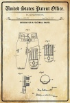 US Patent Office - Design for football pants - Entwurf für Fußball Hose - Goldsmith - Design No 1.225799 - 1917 - Blechschild
