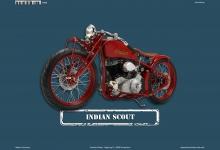 Indian Scout Motorrad Blechschild