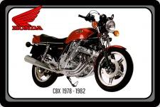 Honda CBX 1978-1982 105PS motorrad, motor bike, motorcycle blechschild