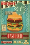 Burgers Fast Food blechschild