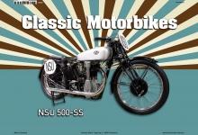 NSU 500-SS Classic Motorrad Blechschild