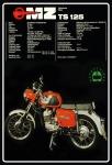 MZ TS 125 motorrad reklame blechschild