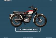 Triumph Tiger Baby Motorrad Blechschild