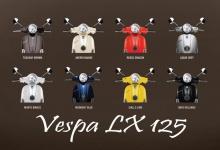 Vespa LX 125 übersicht mofa scotter moped blechschild