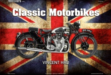 Vincent HRD 998CC UK Classic Motorrad Blechschild