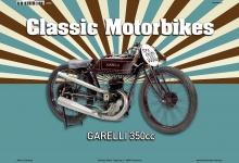Garelli 350CC Classic Motorrad Blechschild