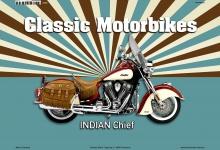 Indian Chief Classic Motorrad Blechschild
