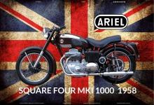 Ariel Square four Mk1 1000 1958 UK motorrad blechschild