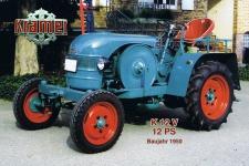 Kramer K12V 12PS 1950 tracktor trekker blechschild