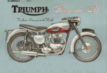 Triumph Bonneville 120 reklame blechschild