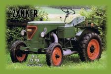 Zanker M1 12PS 1950 tracktor trekker blechschild