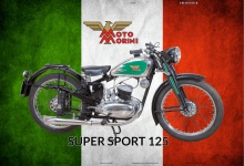 Moto Morini Super Sport 125 italien motorrad blechschild
