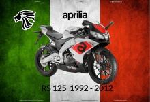 Aprilia RS 125 1992-2012 Italien motorrad blechschild