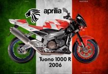 Aprilia Tuono 1000R 2006 Italien motorrad blechschild