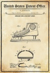 US Patent Office - Design for a Hockey Shoe - Entwurf für einen Hockeyschuh - Johnson - Design No 1.095213 - 1914 - Blechschild