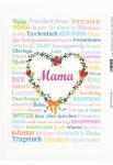 Mama - herz liebe muttertag blechschild
