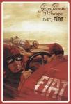 Formel 1 Grand Prix Fiat Autorennen blechschild