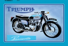 Triumph Bonneville 120R blechschild