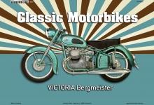 Victoria Bergmeister ClassicMotorrad Blechschild