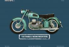 Victoria Bergmeister Motorrad Blechschild