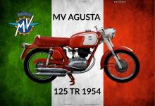 MV Agusta 125 TR 1954 Italien motorrad blechschild