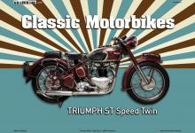 Triumph ST Speed Twin Classic Motorrad Blechschild