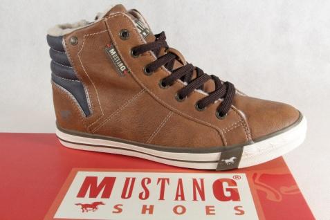 Mustang Stiefel Stiefeletten Stiefelette Schnürstiefel Boots braun NEU!