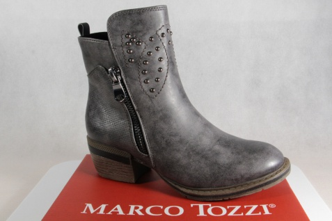 Marco Tozzi Stiefelette Stiefeletten Stiefel Boots grau 25361 NEU!!