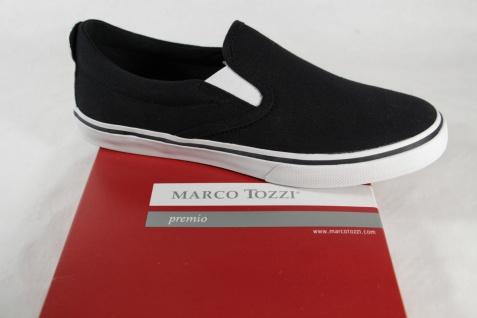 Marco Tozzi Stoff Damen Slipper, schwarz, Gummisohle, Stoff Tozzi NEU! 8126c9