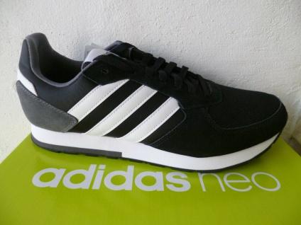 Adidas 8K Sportschuhe Turnschuhe Sneaker B44650 schwarz/weiss NEU!