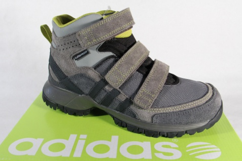 Adidas Stiefel Boots wasserdicht Leder/Textil grau NEU!
