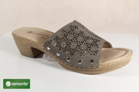 Remonte Damen Pantoletten Pantolette Lederfußbett Pantoffel D6951 grau Lederfußbett Pantolette NEU! 2103f4