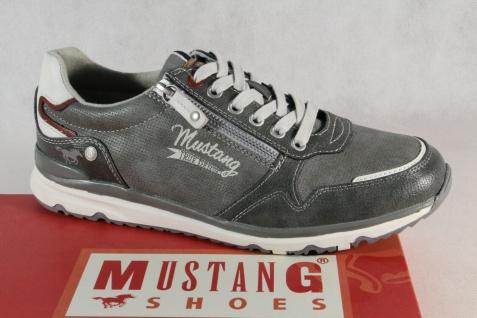 Mustang Herren Schnürschuhe Sneakers Halbschuhe Sportschuhe 4095 grau NEU!