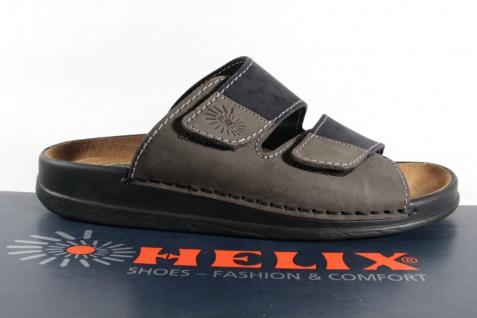 Helix Herren Pantoletten Clogs Pantolette Pantoffel schwarz/grau 54131 Leder NEU - Vorschau 2