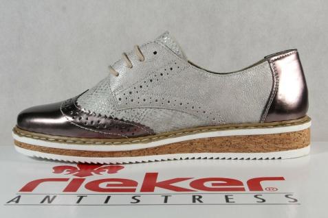 Rieker Damen Schnürschuh Schnürschuhe Sneakers Sportschuhe Halbschuhe grau NEU! - Vorschau 3