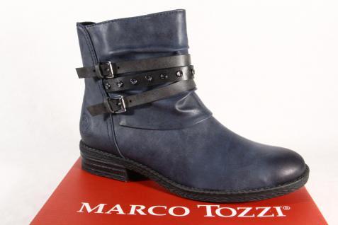 Marco Boots Tozzi Damen Stiefel Stiefeletten Schnürstiefel, Boots Marco navy blau 25413 NEU! 5457b3
