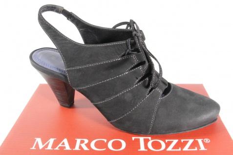 Marco Tozzi Damen Sling/ Schnüroptik Sandale, schwarz, Gummisohle, Schnüroptik Sling/ NEU!! 308cad