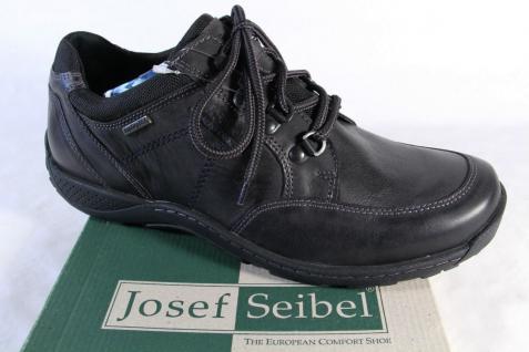 Seibel Herren Herren Seibel Schnürschuh, Halbschuh Sneaker schwarz, Lederinnensohle, NEU! 51f3df