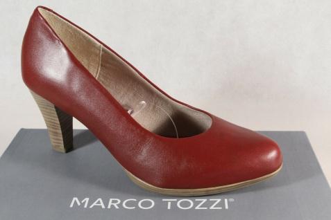 Marco Tozzi Pumps Ballerina Slipper rot Echtleder 22408 feel me NEU!